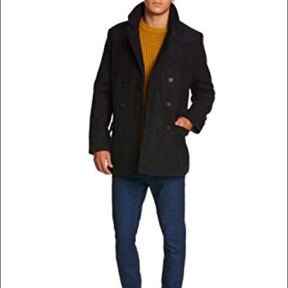 largest selection of good quality the latest Original Penguin Mens Wool Blend Peacoat Gray M